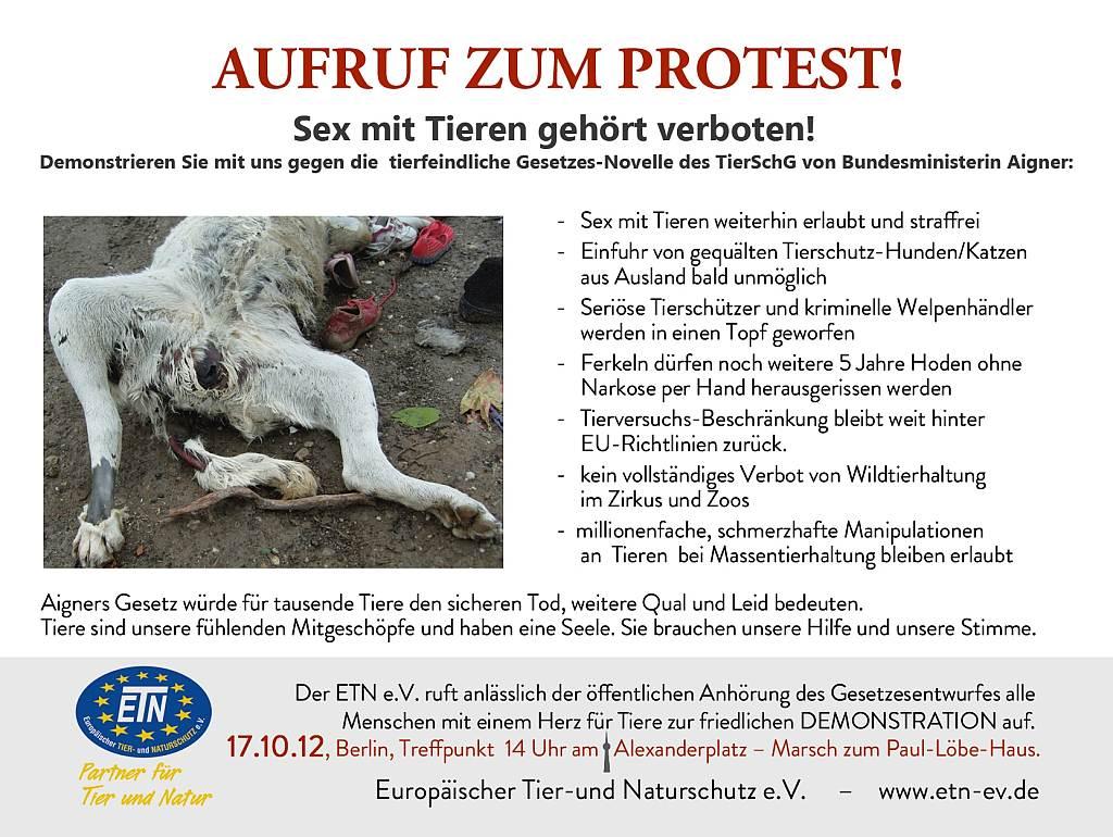Tiersch 252 Tzer Protestieren Gegen Novellierung Des Tierschutzgesetzes Aigner Verhindert Rettung